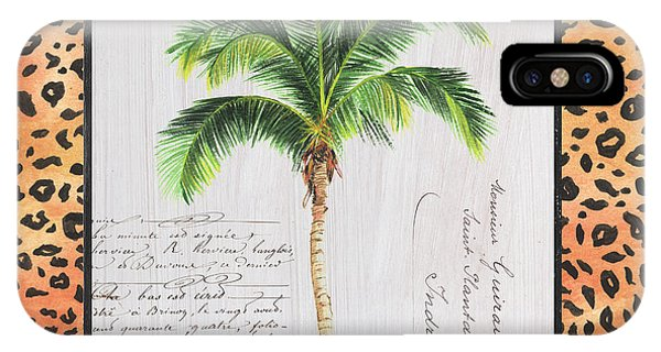 Palm Tree iPhone X Case - Exotic Palms 1 by Debbie DeWitt