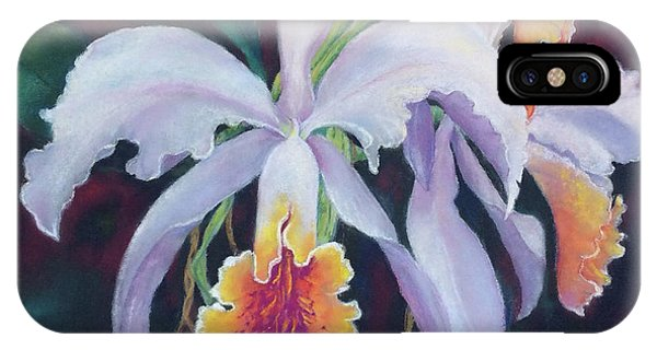 Exotic White Orchid IPhone Case