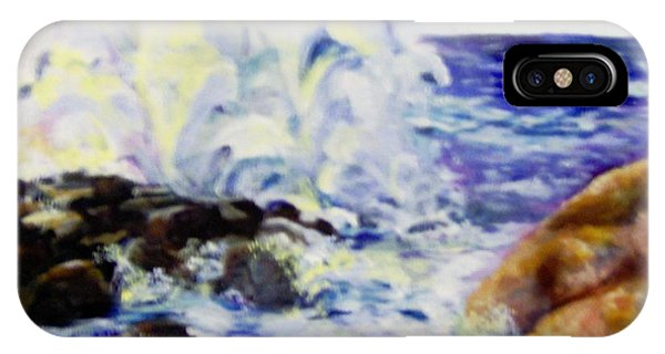 IPhone Case featuring the painting Explode by Saundra Johnson