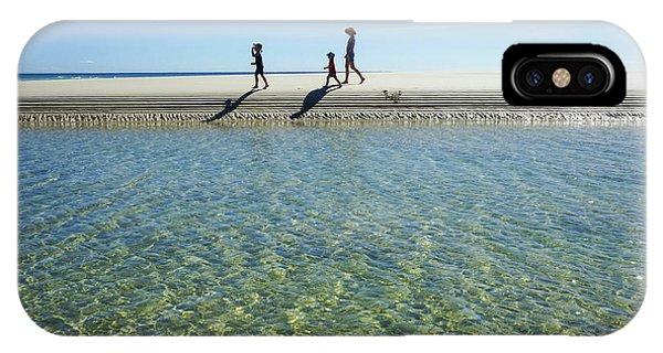Exploring A Tidal Beach Lagoon IPhone Case