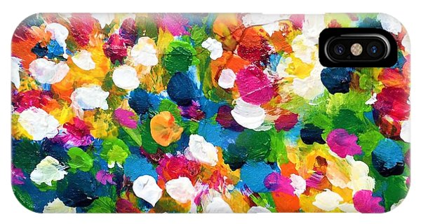 IPhone Case featuring the painting Explosion Of Colors by Cristina Stefan