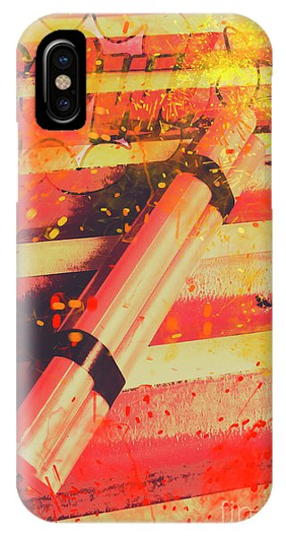 Explosion iPhone X Case - Explosive Comic Art by Jorgo Photography - Wall Art Gallery