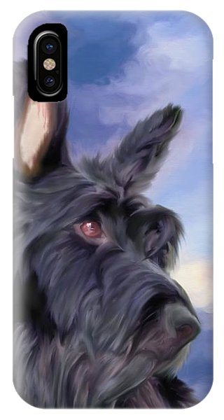 Expression Is Everything Scottish Terrier Dog IPhone Case
