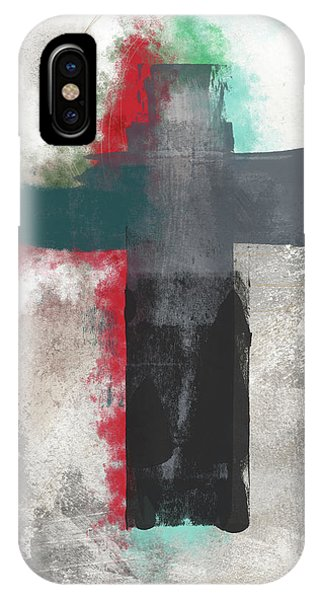 Christian Cross iPhone Case - Expressionist Cross 4- Art By Linda Woods by Linda Woods
