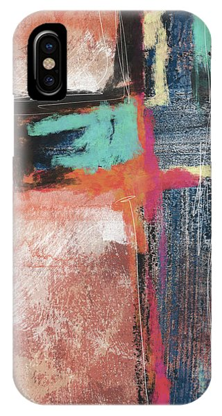 Cross iPhone X Case - Expressionist Cross 5- Art By Linda Woods by Linda Woods