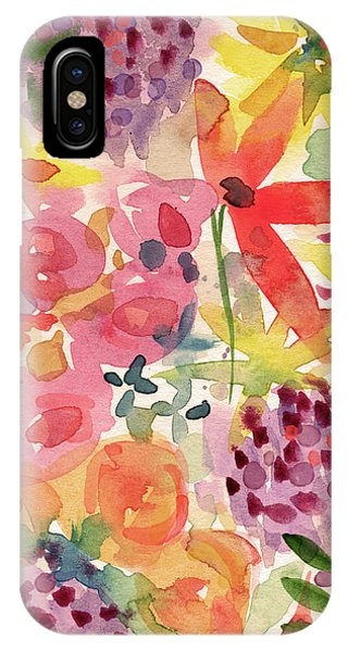 Floral iPhone Case - Expressionist Fall Garden- Art By Linda Woods by Linda Woods