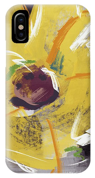 Expressionist Sunflower- Art By Linda Woods IPhone Case
