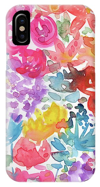 Pink iPhone Case - Expressionist Watercolor Garden- Art By Linda Woods by Linda Woods