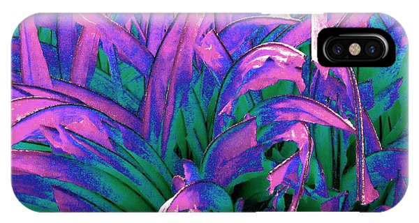 IPhone Case featuring the painting Expressive Abstract Grass Series A1 by Mas Art Studio