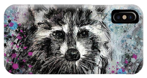 Expressive Raccoon IPhone Case