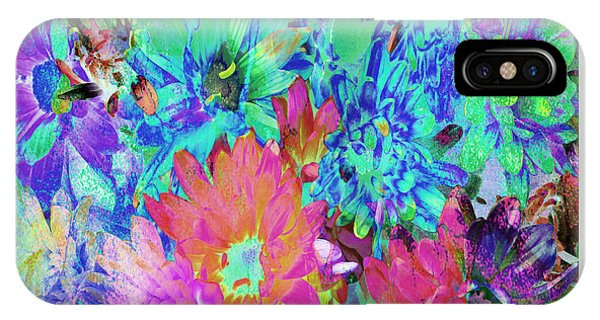 IPhone Case featuring the painting Expressive Digital Still Life Floral B721 by Mas Art Studio