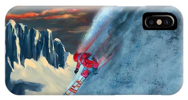 Extreme Ski Painting  IPhone Case