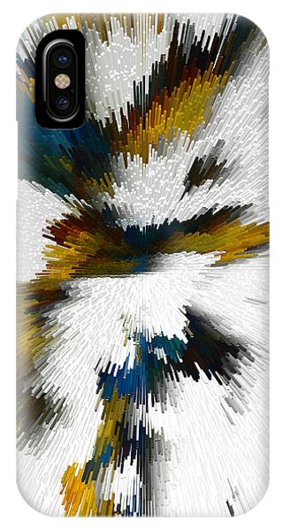 IPhone Case featuring the digital art Sculptural Series Digital Painting 612.102310extrusion by Kris Haas