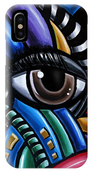 Eye Abstract Art Painting - Intuitive Chromatic Art - Pineal Gland Third Eye Artwork IPhone Case