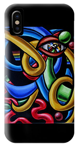 Eye Art Print Chromatic Abstract Art Painting Colorful Optical Artwork  IPhone Case