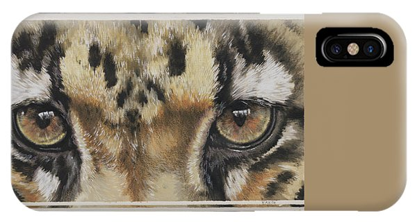 Clouded Leopard Gaze IPhone Case