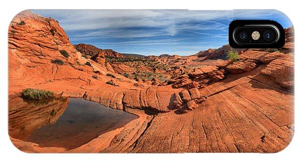 Eye Of The Desert Panorama IPhone Case