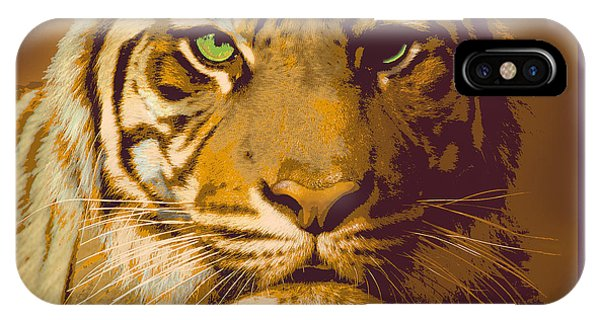 Eye Of The Tiger Animal Portrait  IPhone Case