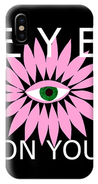 Eye On You - Black IPhone Case