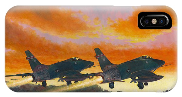 F-100d's Missouri Ang At Dusk IPhone Case