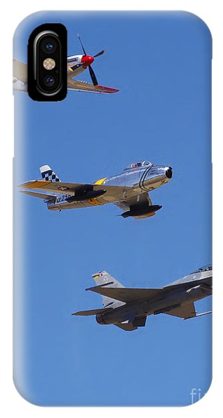 F-16 P-51d F-86 Heritage Flight- Flyby IPhone Case
