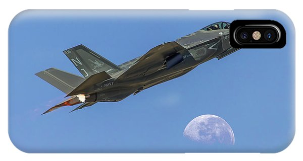F-35 Shoots The Moon IPhone Case