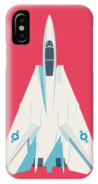 Jet iPhone Case - F14 Tomcat Fighter Jet Aircraft - Crimson by Ivan Krpan