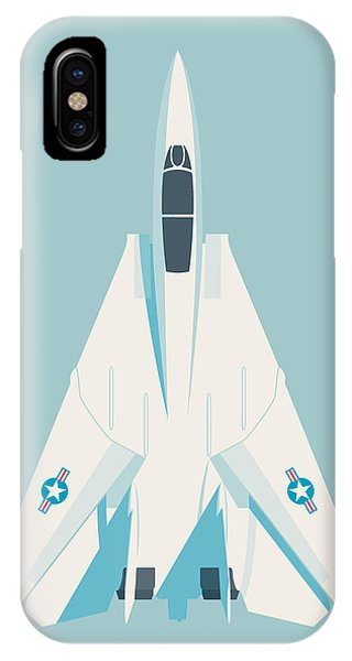 Jet iPhone Case - F14 Tomcat Fighter Jet Aircraft - Sky by Ivan Krpan