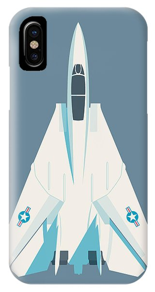 Jet iPhone Case - F14 Tomcat Fighter Jet Aircraft - Slate by Ivan Krpan