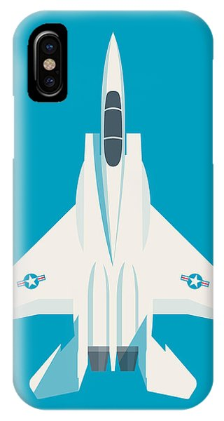Jet iPhone Case - F15 Eagle Fighter Jet Aircraft - Blue by Ivan Krpan