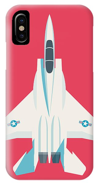 Jet iPhone Case - F15 Eagle Fighter Jet Aircraft - Crimson by Ivan Krpan
