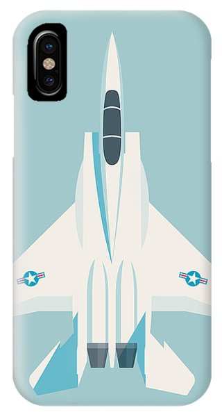 Jet iPhone Case - F15 Eagle Fighter Jet Aircraft - Sky by Ivan Krpan