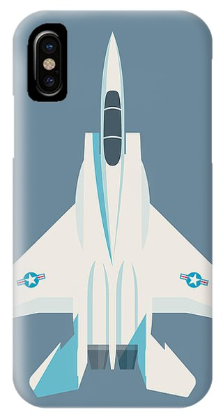 Jet iPhone Case - F15 Eagle Fighter Jet Aircraft - Slate by Ivan Krpan