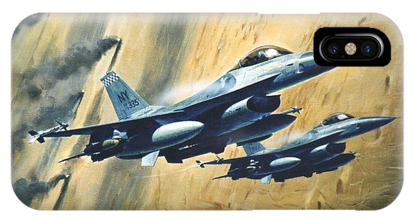 'f16 Desert Storm' IPhone Case