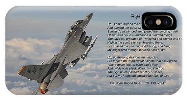 F16 - High Flight IPhone Case