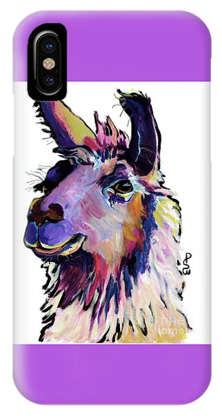 Llama iPhone Case - Fabio by Pat Saunders-White