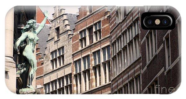 Facade Figure In Antwerp Belgium IPhone Case