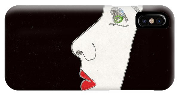 IPhone Case featuring the drawing Face In Profile by W And F Kreations