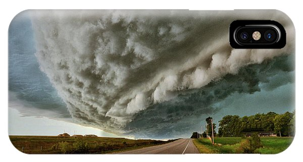 Face In The Storm IPhone Case