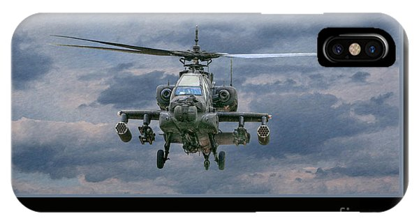 Face Of Death Ah-64 Apache Helicopter IPhone Case