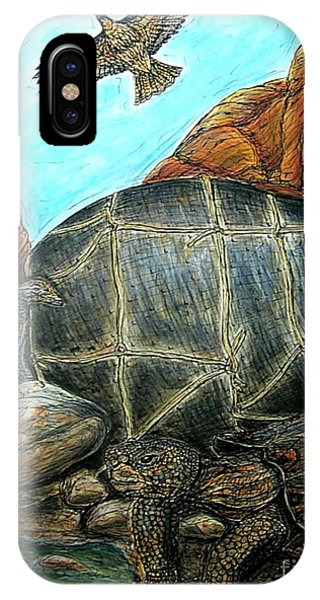Face Off At The Waterhole IPhone Case