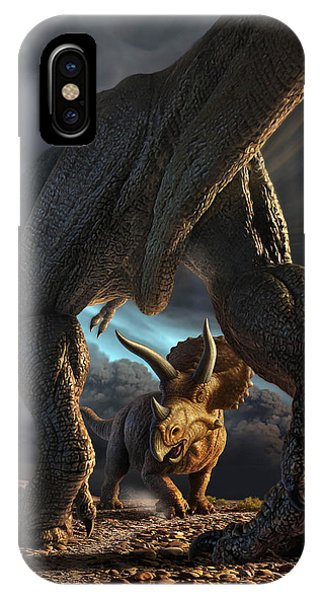 Cloud iPhone Case - Face Off by Jerry LoFaro