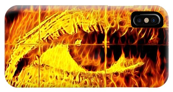 iPhone Case - Face The Fire by Gina Callaghan