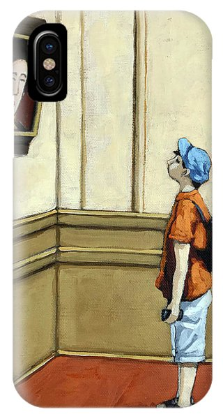 Face To Face - Boy Viewing Art IPhone Case