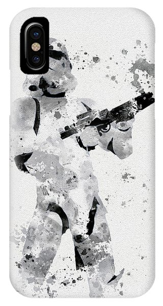Mixed-media iPhone Case - Faceless Enforcer by My Inspiration