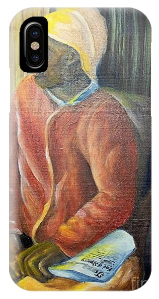 IPhone Case featuring the painting Facing Freedom by Saundra Johnson