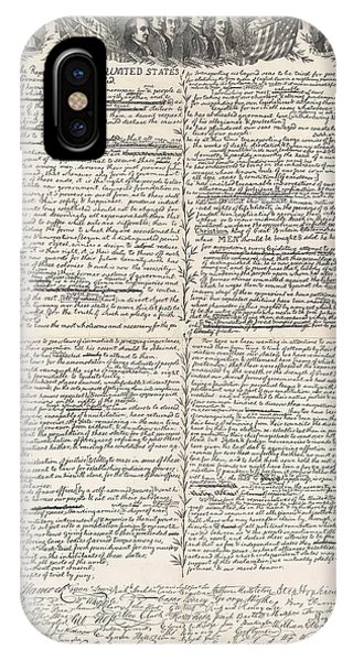 July 4 iPhone Case - Facsimile Of The Original Draft Of The Declaration Of Independence by American School