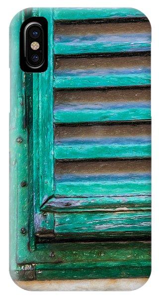 Faded Green Window Shutter IPhone Case