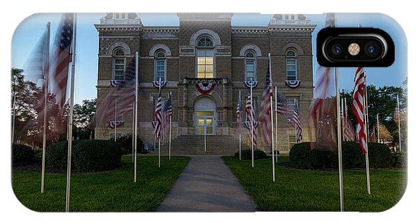 Fairbury Nebraska Avenue Of Flags - September 11 2016 IPhone Case
