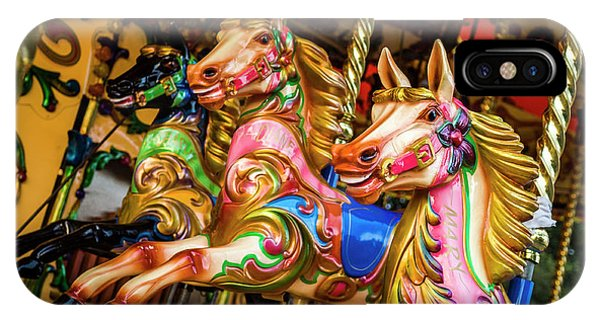 Fairground Carousel Horses IPhone Case